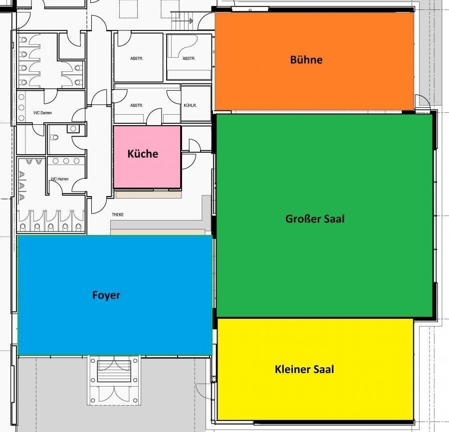 Raumaufteilung Bürgerhaus