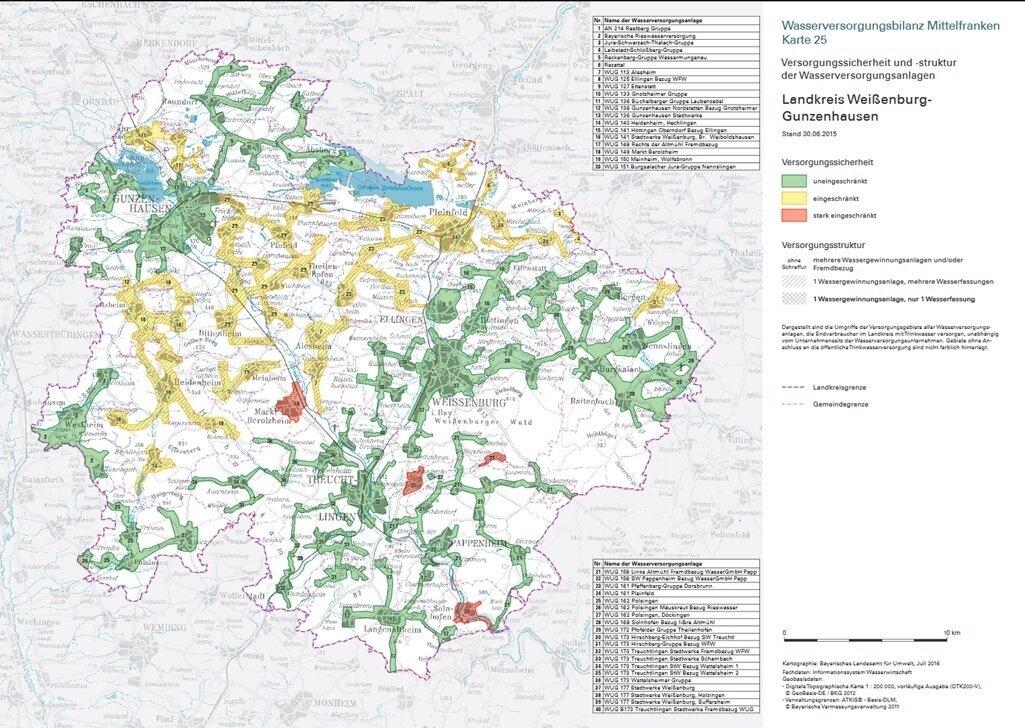 Wasserversorgungsbilanz Landkreis WUG