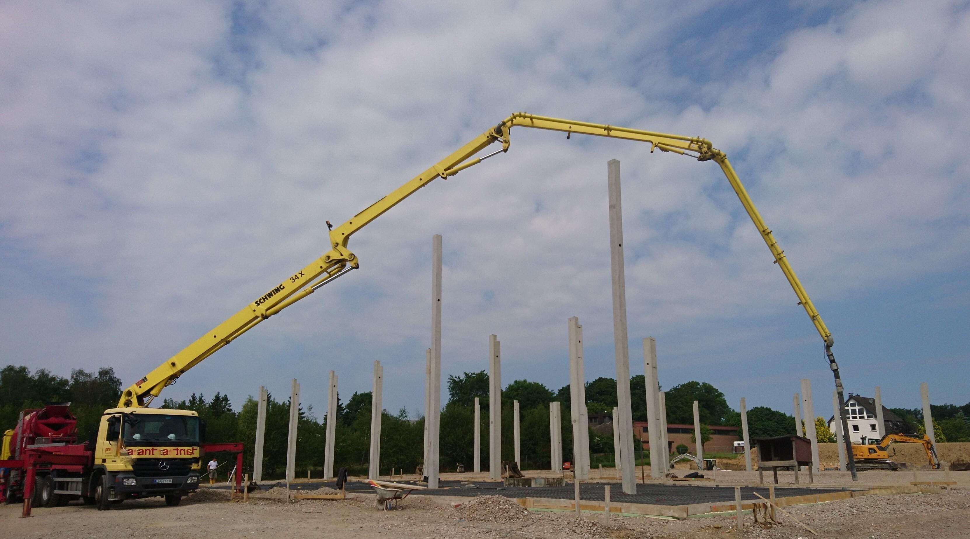 Betonarbeiten Hallenbau in Bünde