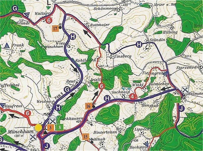 Trainingsrundfahrt Münchham - Halmstein - ca. 11 km