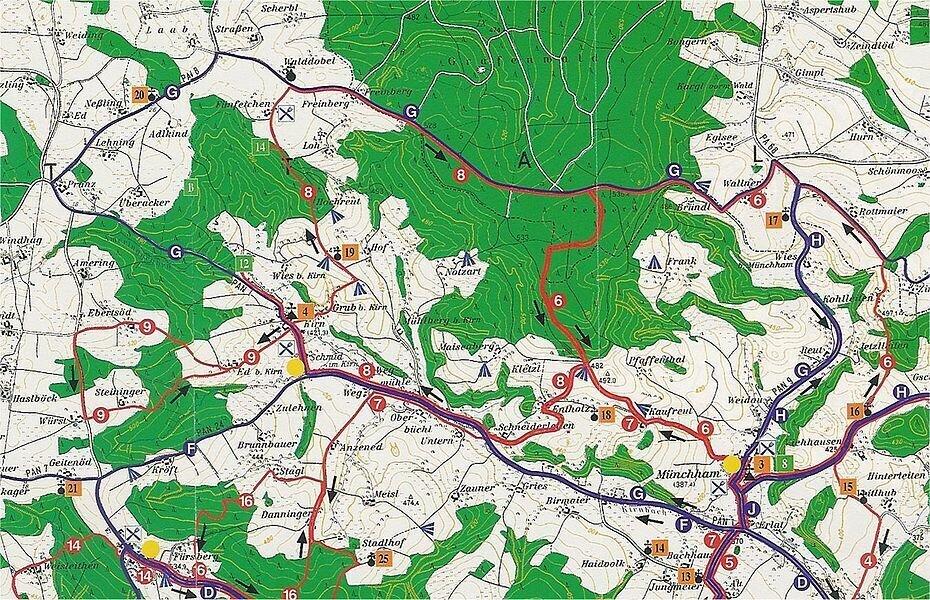 Von Münchham über Kirn durch den Grafenwald - ca. 11 km