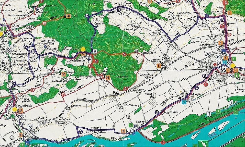 """Auf dem """"Ho-Chi-Minh-Pfad"""" zwischen Ering und Stubenberg - ca. 24 km"""