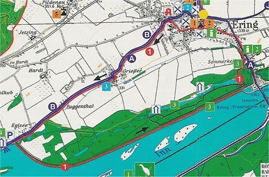 Rundwanderweg 1: Inntalwanderweg, ca. 10,5 km