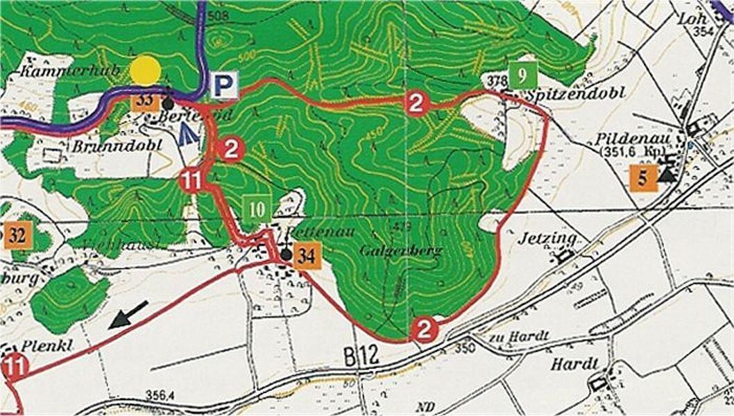 Rundwanderweg 2: Erlebnisweg um den Galgenberg, ca. 7,5 km