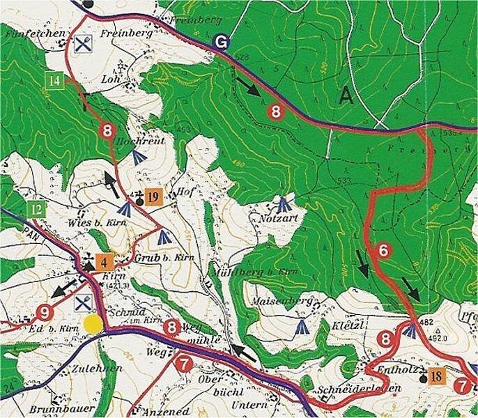 Rundwanderweg 8: Münchham - Kirn Rundwanderweg, ca. 12 km
