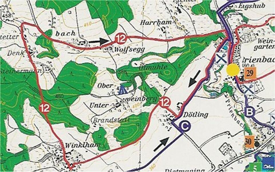 Rundwanderweg 12: Weinbergweg, ca. 8 km