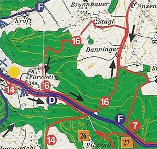 Rundwanderweg 16: Fürstbergweg, ca. 5,5 km