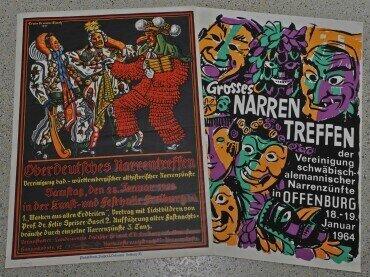 Plakate der Narrentreffen von 1928 und 1964, Foto: Rüth