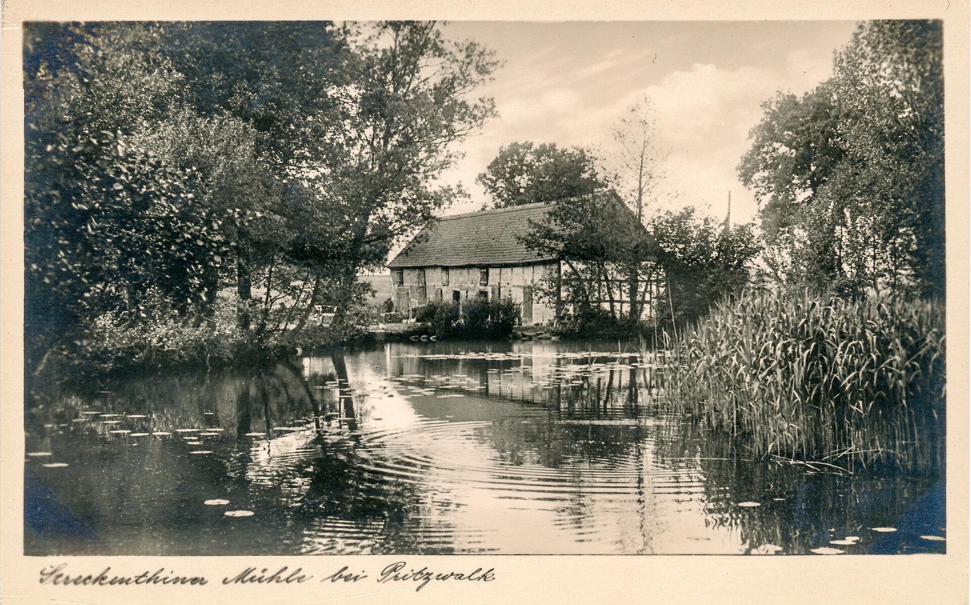 Die Wassermühle in Streckenthin. Quelle: Museum