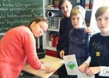 Foto mit der Lehrerin