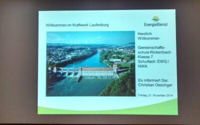 Modul Regenerative Energie- Wasserkraft Kraftwerk Laufenburg