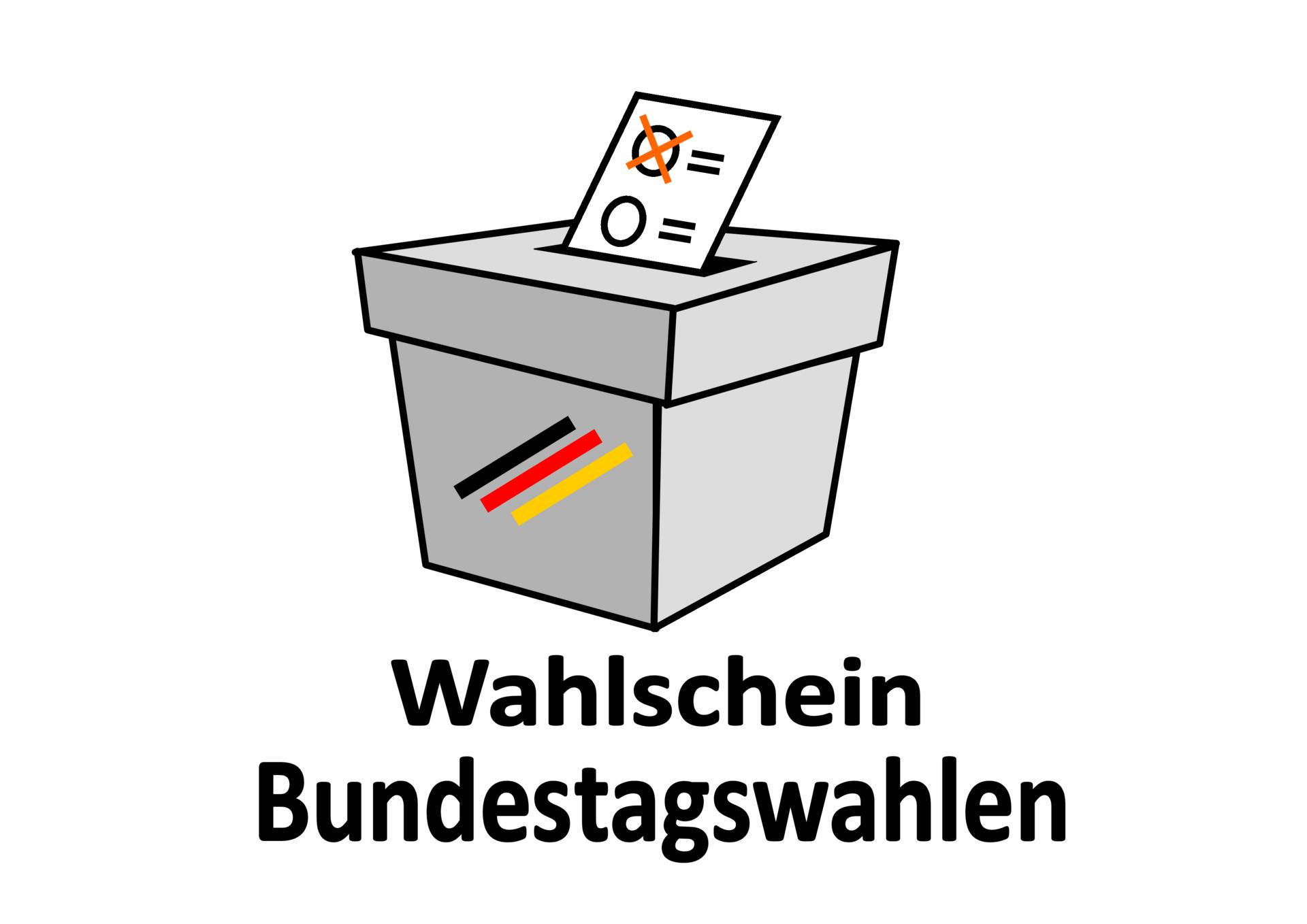 Wahlschein für die Bundestagswahlen