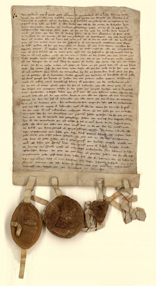 Vertrag von Kremmen  (Ausfertigung im Brandenburger Landeshauptarchiv, Rep. 9B, U 76)