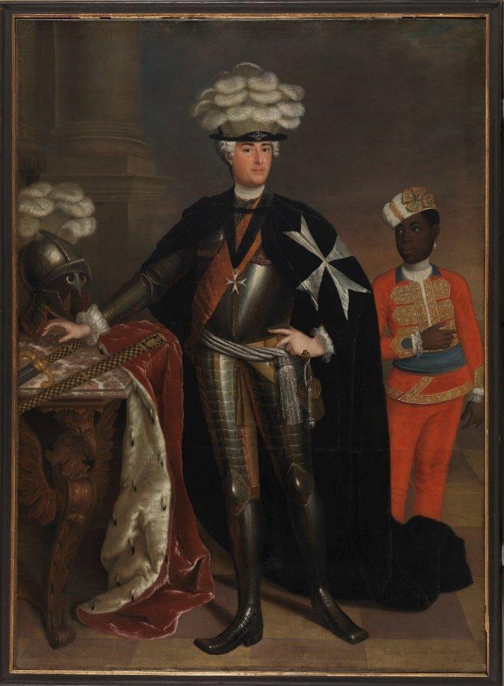 Markgraf Friedrich Karl Albrecht als Herrenmeister des Johanniterordens  Gemälde von Anna Rosina Lisiewska, 1737 aus dem Germanischen Nationalmuseum zu Nürnberg