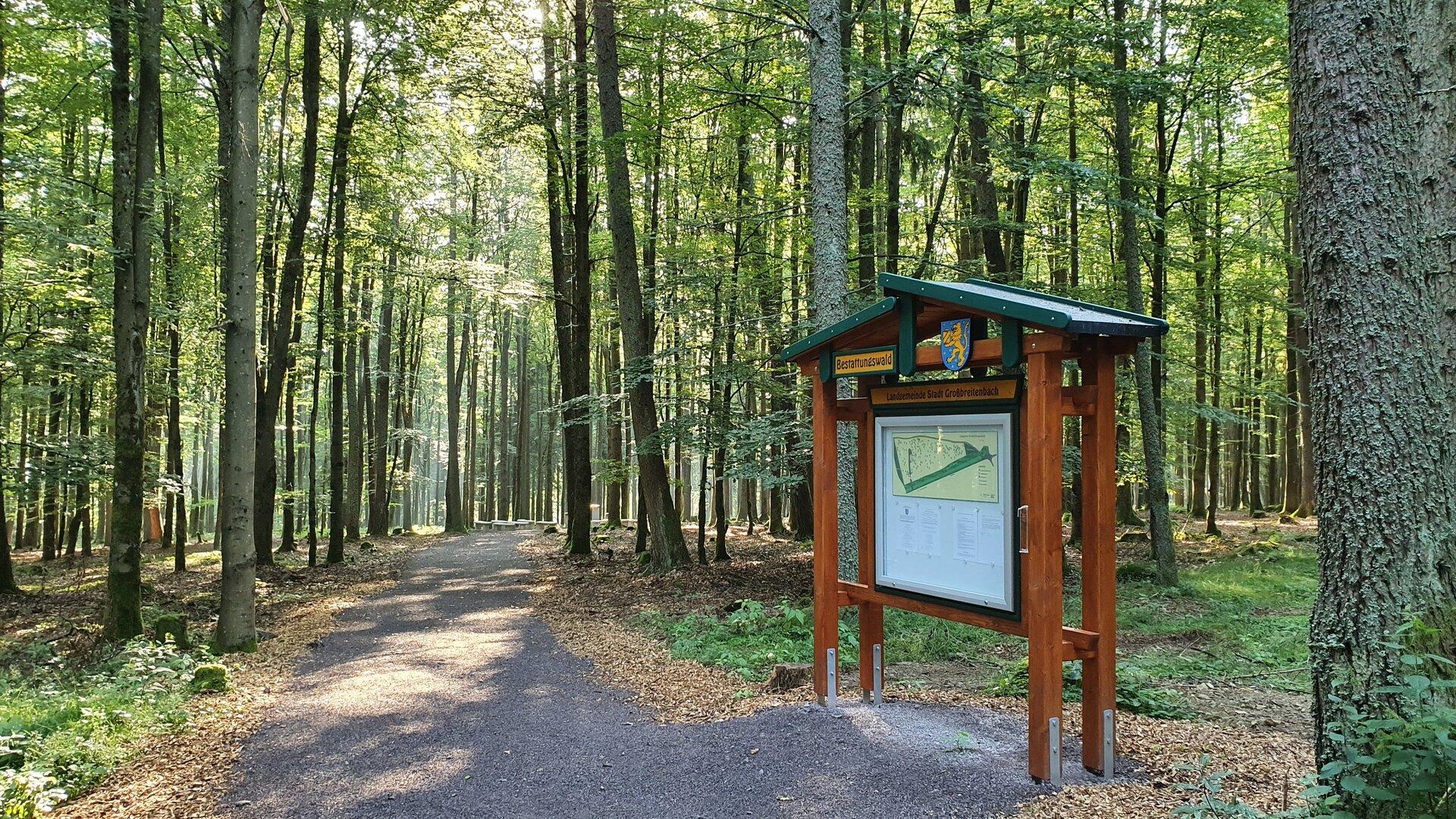Eingang bestattungswald