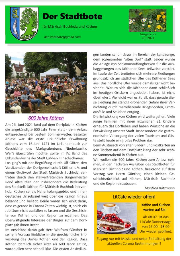 Ausgabe 95 - Juli 2021