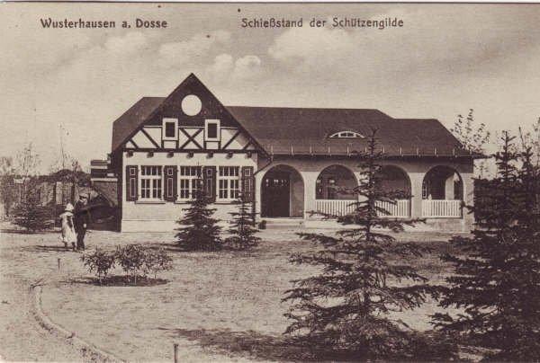 Das Schützenhaus - Postkarte so um 1917