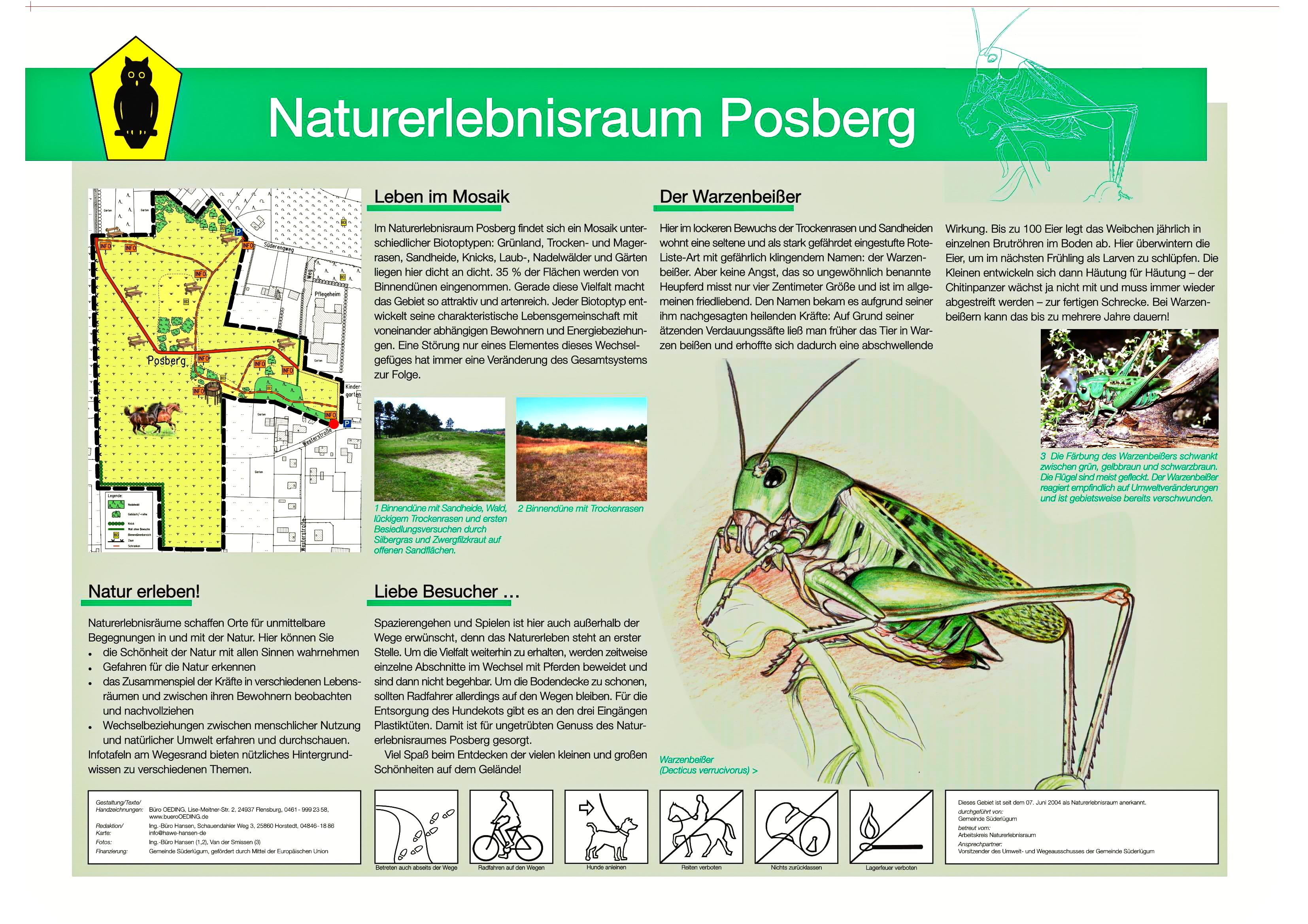 Info Tafel Posberg