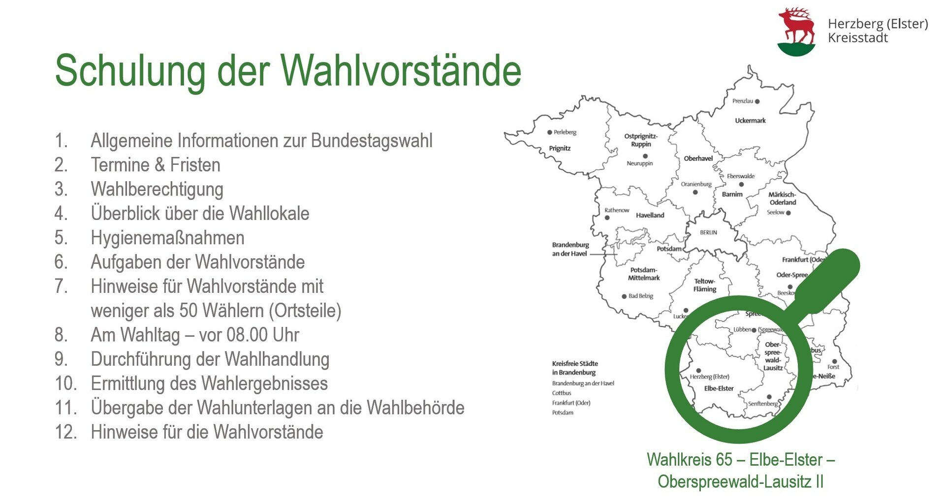 Wahlschulung
