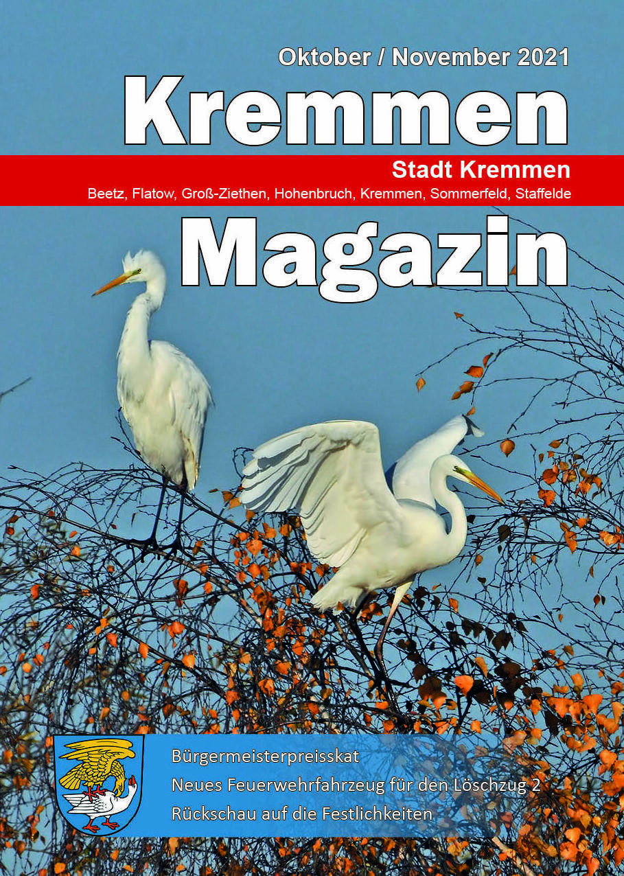 Kremmen Magazin 05/2021 - Titelbild: Detlef Hase, Landschaftsförderverein Oberes Rhinluch e.V.