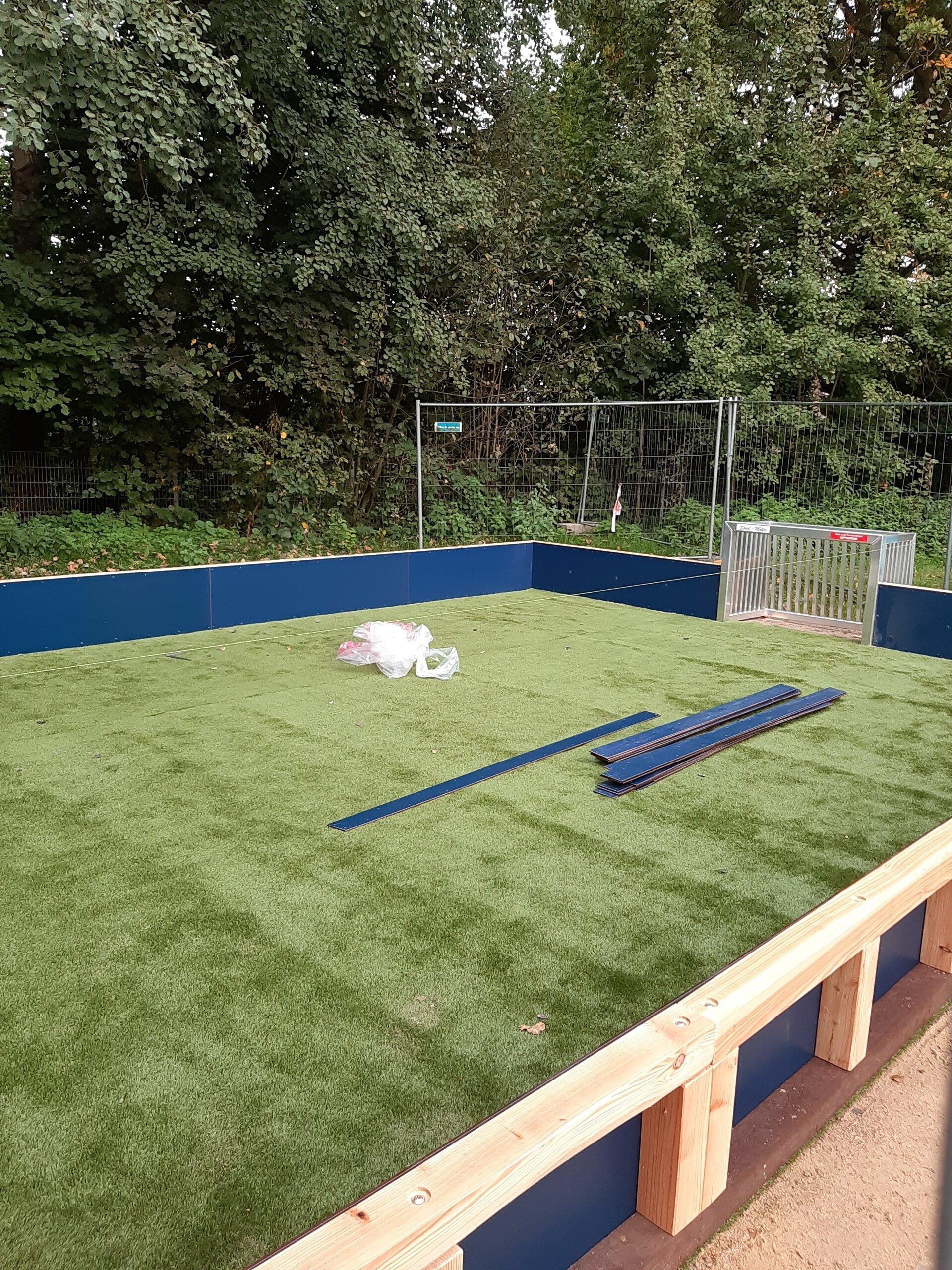 Das neue Fußballfeld