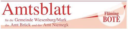 Amtsblatt für die Gemeinde Wiesenburg/Mark, das Amt Brück und das Amt Niemegk - Flämingbote