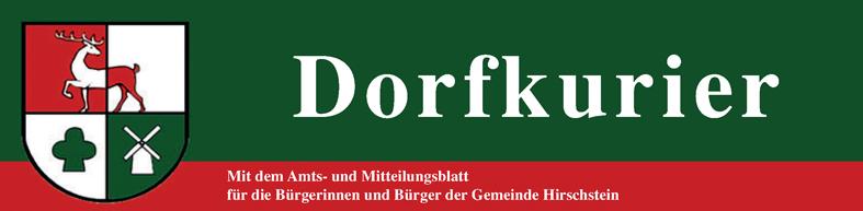 Dorfkurier - Mit dem Amts- und Mitteilungsblatt für die Bürgerinnen und Bürger der Gemeinde Hirschstein
