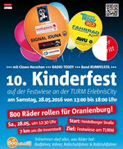 Kinderfest TURM ErlebnisCity 2016