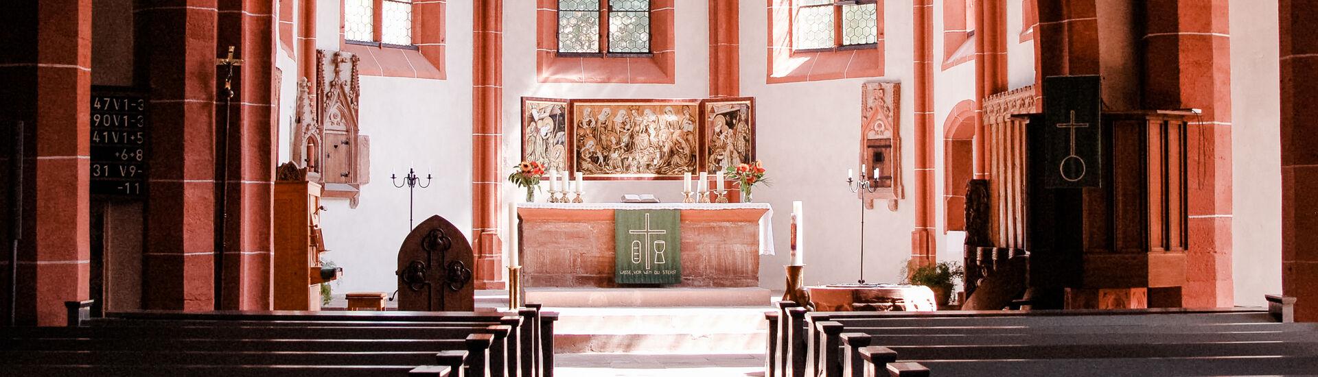 Altarbild in der Ortenberger Marienkirche