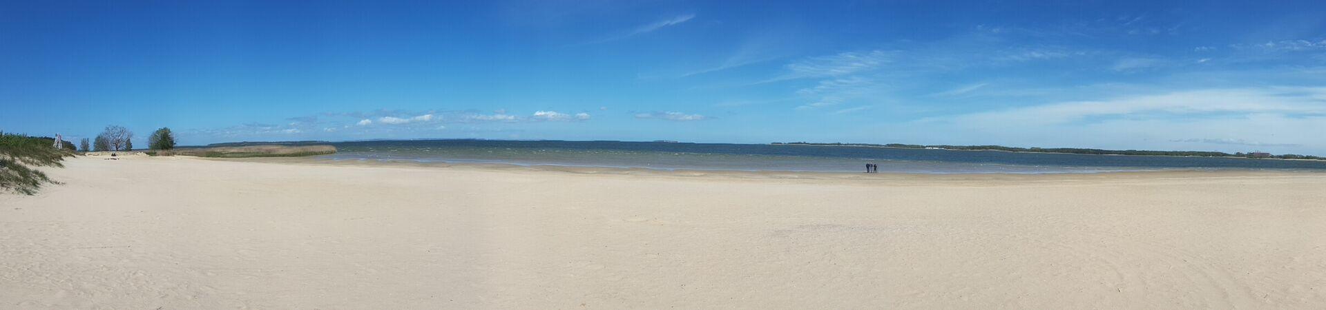 Blick auf Strand von Freest