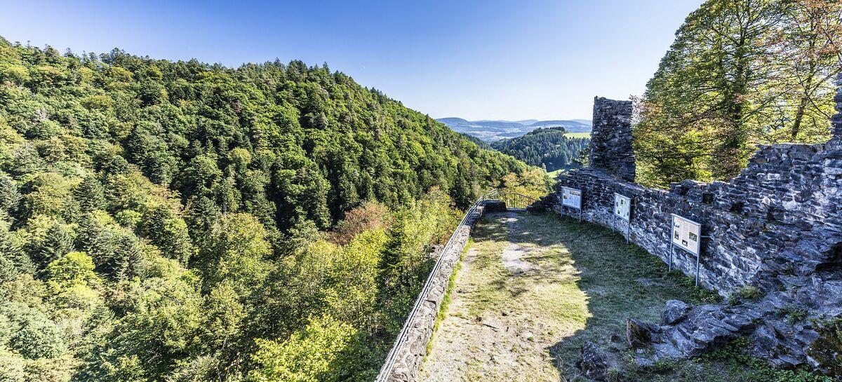 Burgruine Aussicht mit Ruine