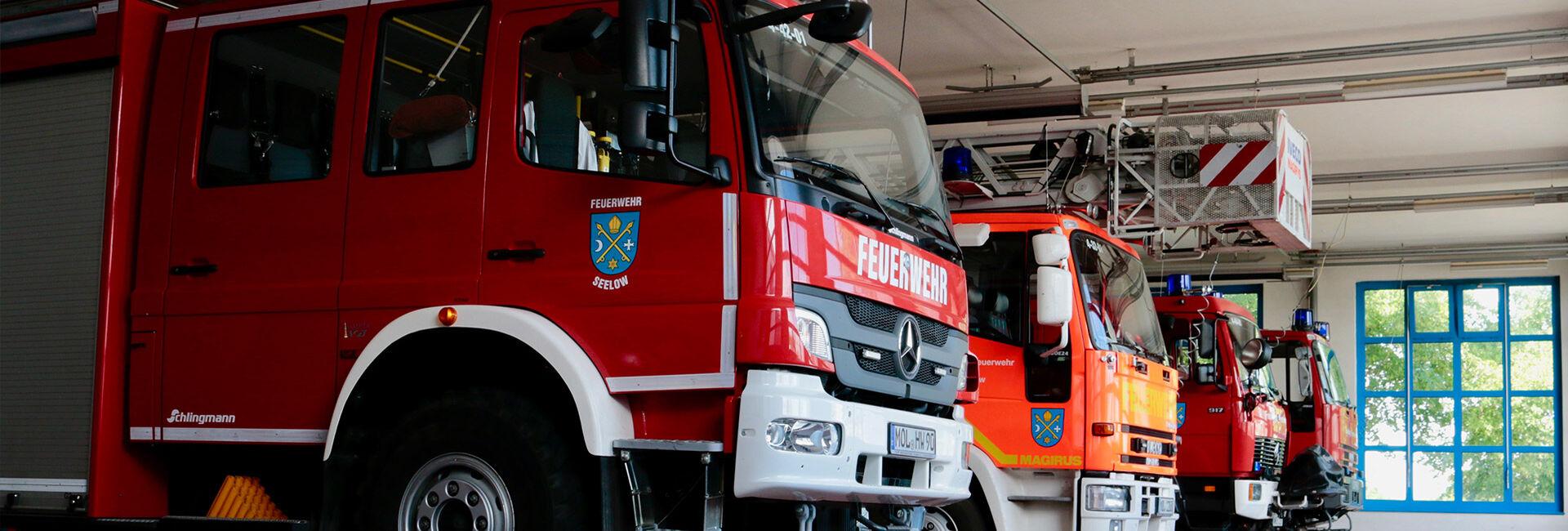 Fahrzeughalle der Freiwilligen Feuerwehr Seelow