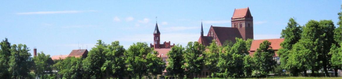 Blick auf die Stadtsilhouette von Perleberg