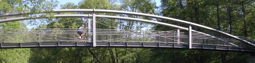 Radbrücke über die Eder bei Dodenau