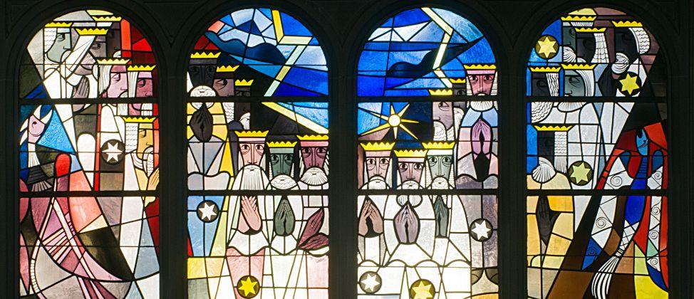Kirchenfenster der Johanneskirche, gestaltet von Erhardt Klonk