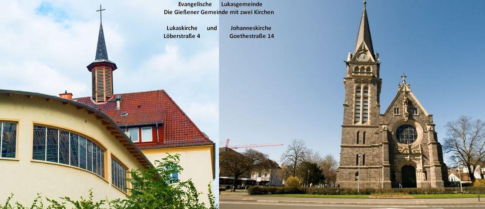 Die Lukasgemeinde mit zwei Kirchen