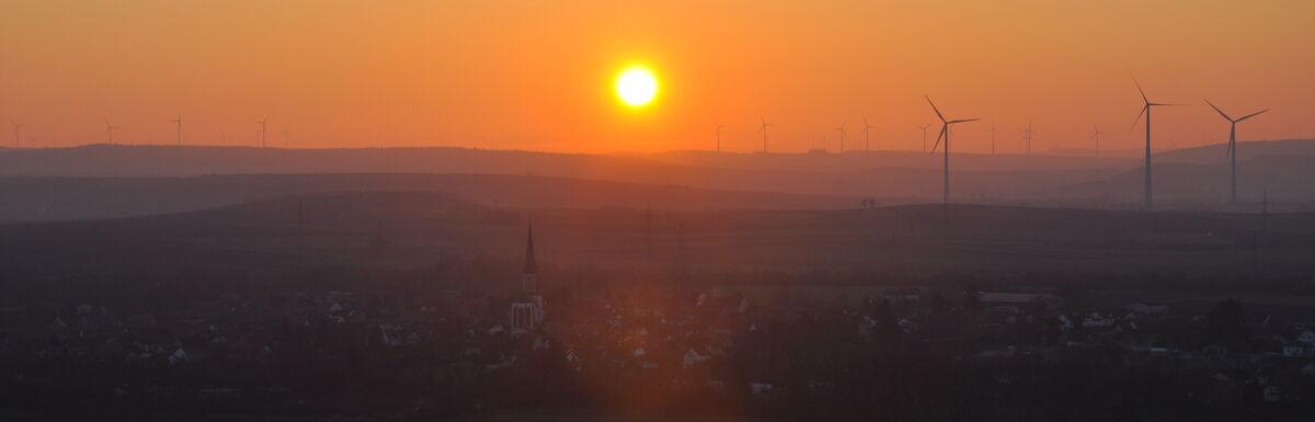 Armsheim im Sonnenuntergang