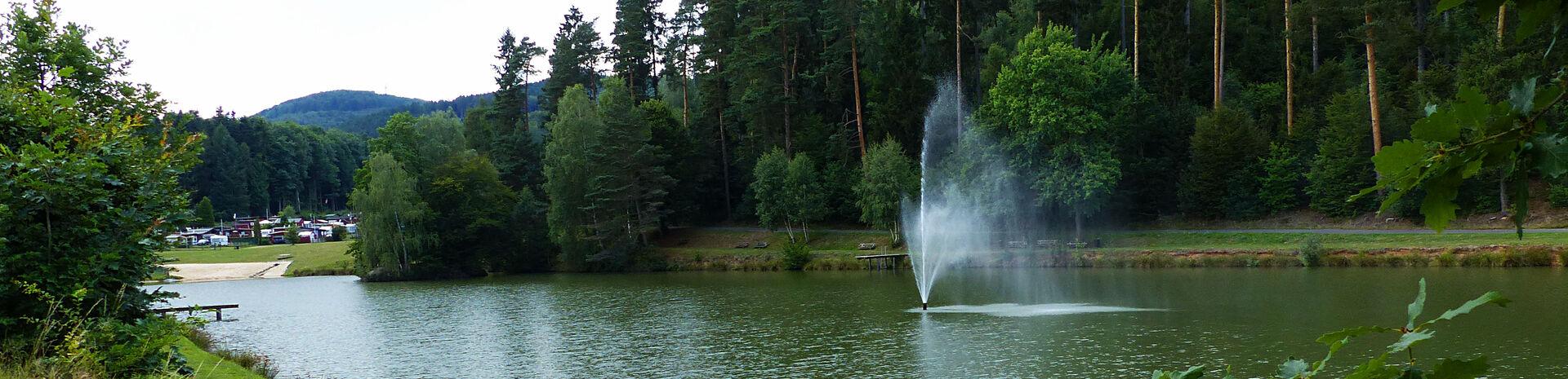 Silbersee mit Campingplatz - Bildaufnahme durch Horst Roth