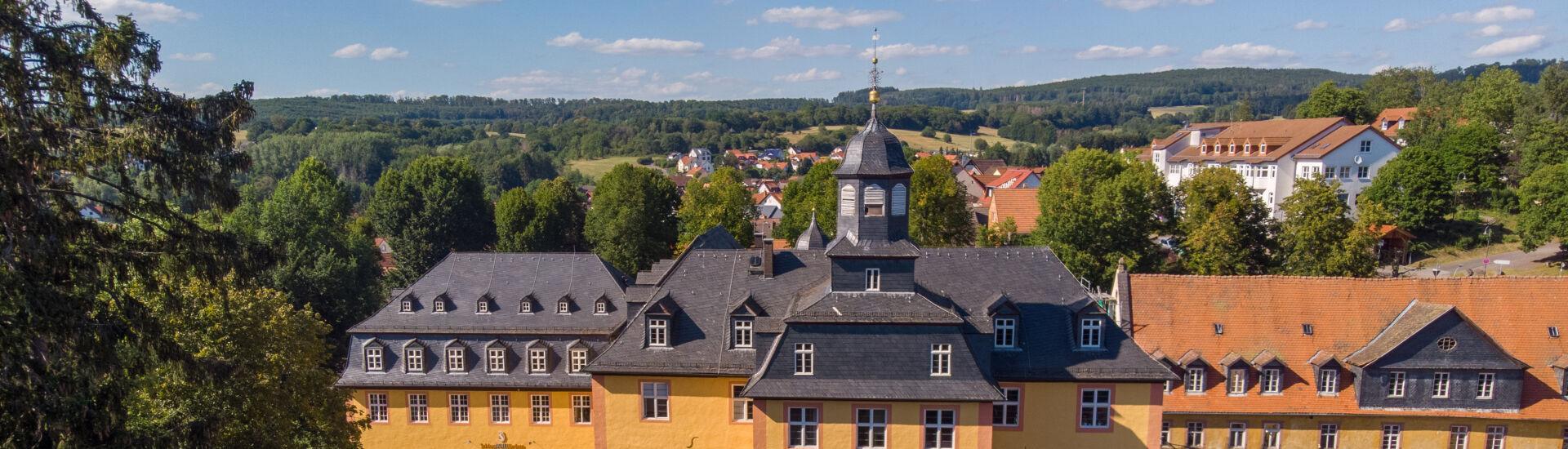 Luftbild Schloss Gedern
