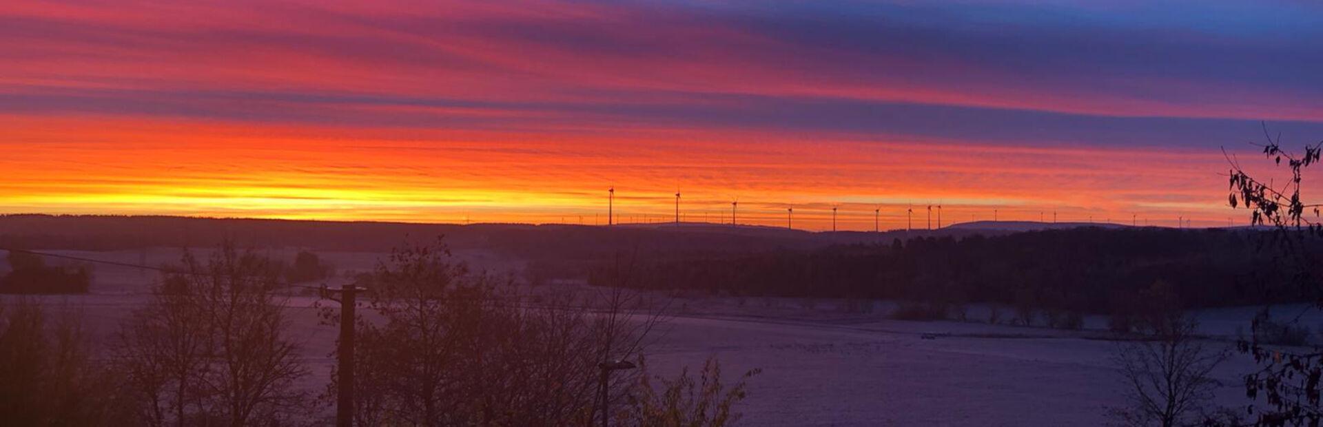 Ein Sonnenaufgang im November 2020