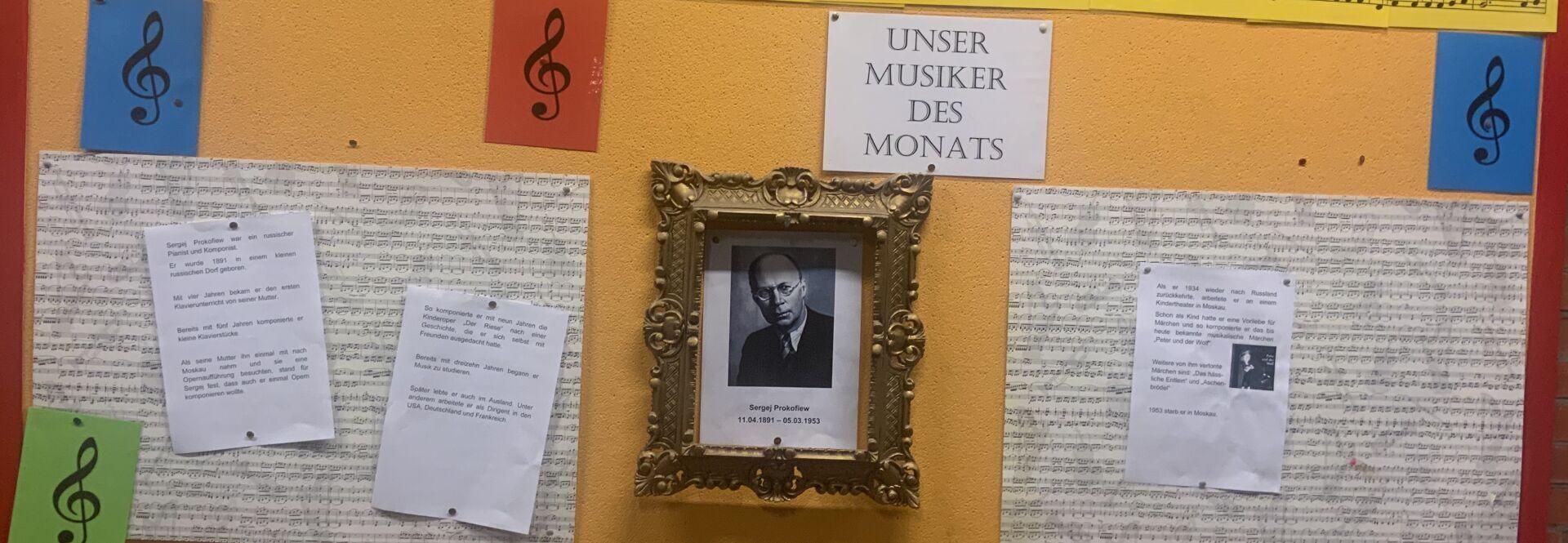 """Monatliches Portrait des """"Musikers des Monats"""""""
