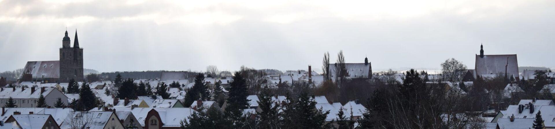 Altstadtkern vom Wasserturm im Winter