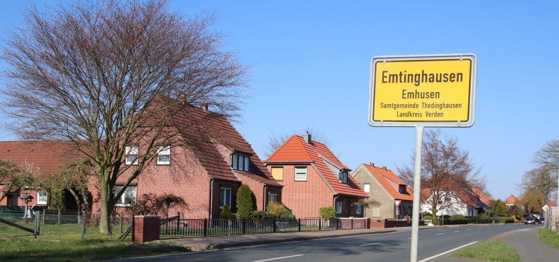 Einfahrt nach Emtinghausen