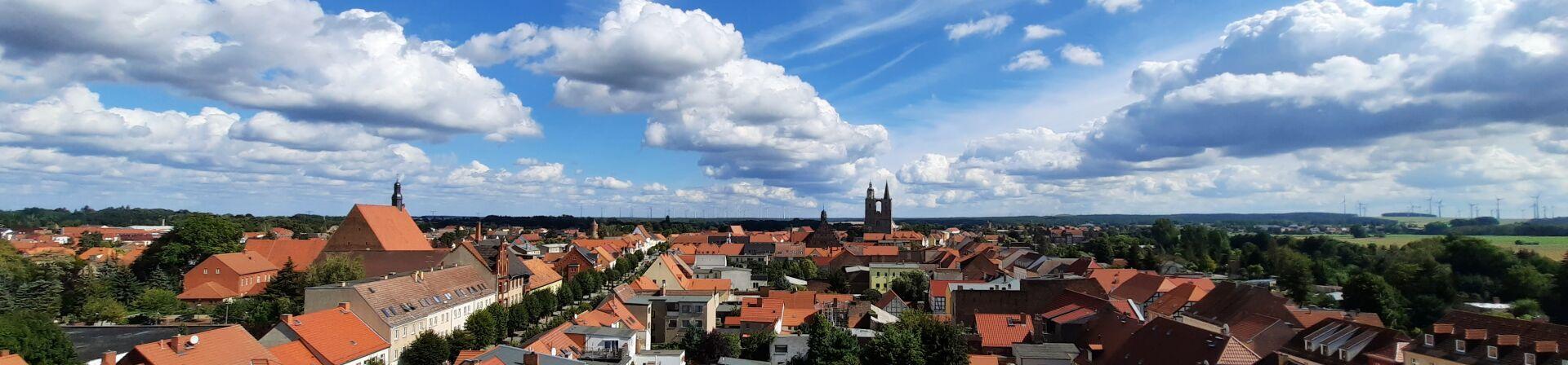 Der Altstadtkern mit Blick gen Osten