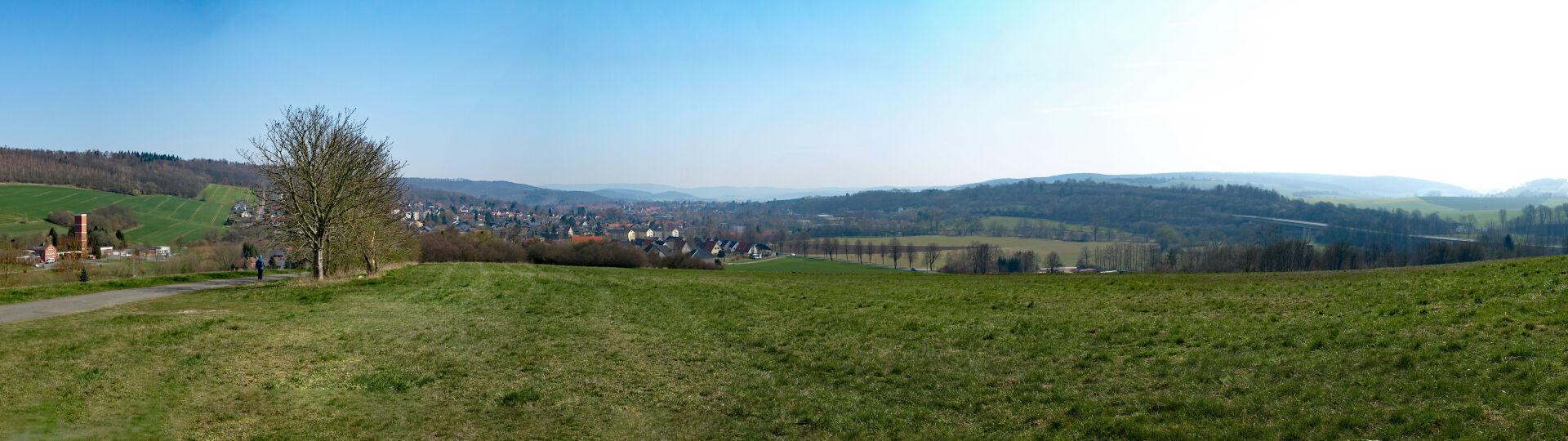 Panorama Bad Gandersheim und Westharz