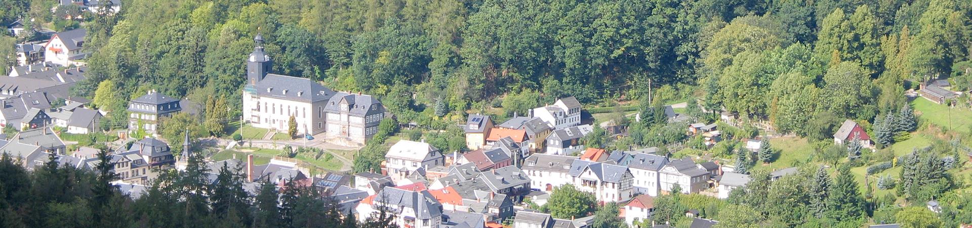 Blick auf Leutenberg