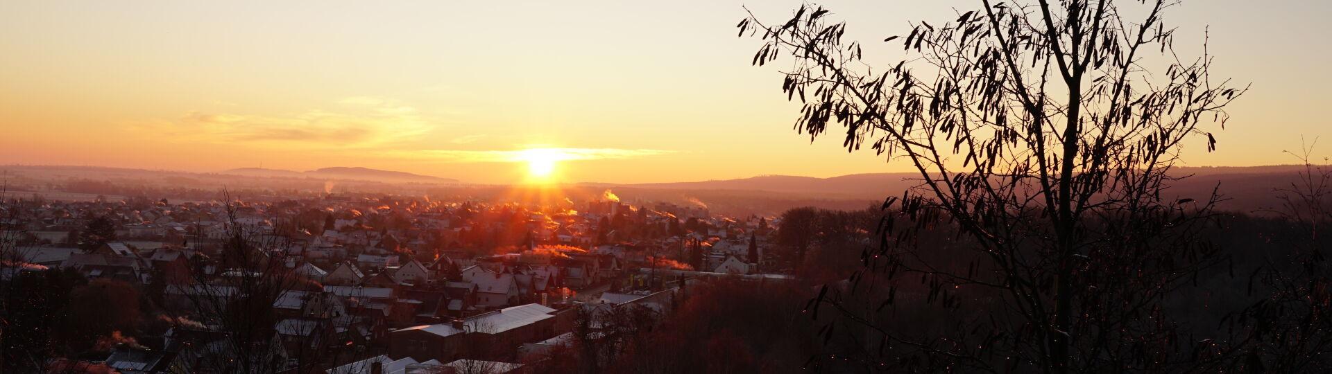 Sonnenaufgang über Barsinghausen