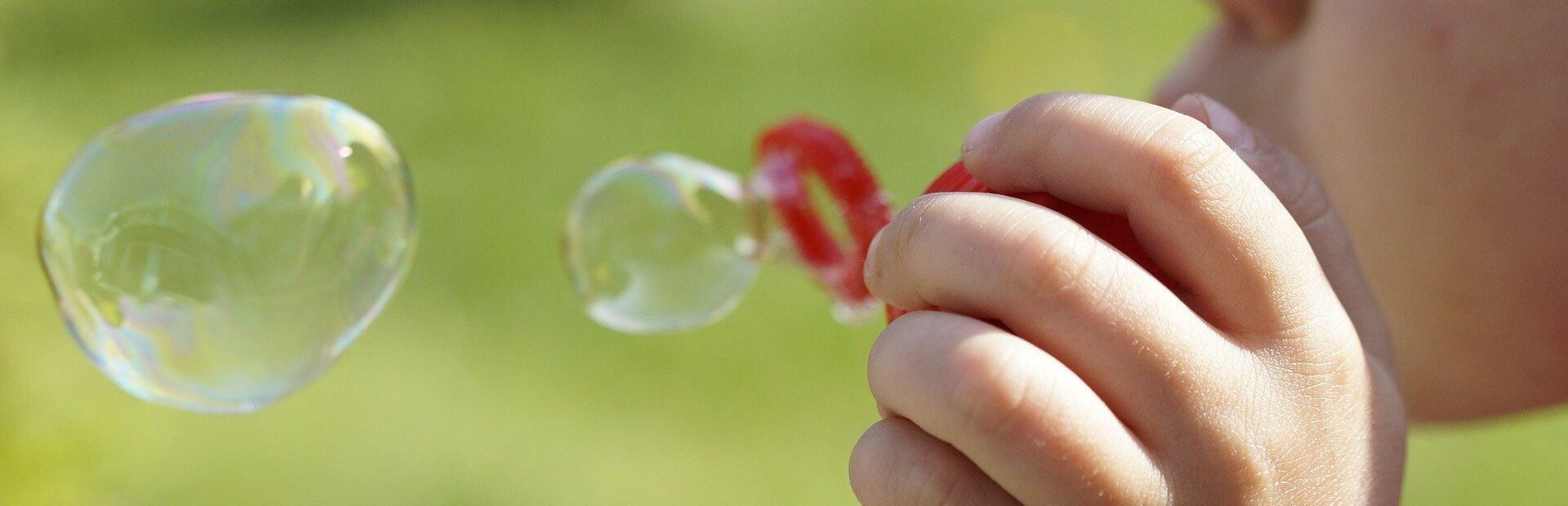 Foto-Kinder-Seifenblasen