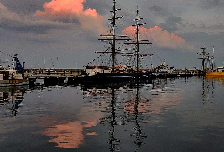 Abendstimmung an der Hafenmole