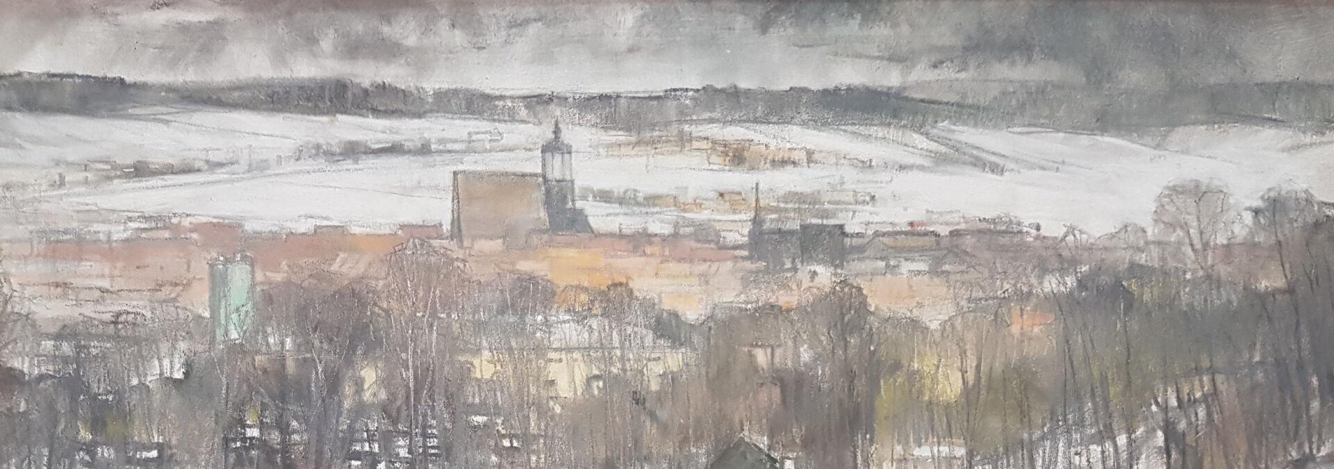 """""""Impression Neustadt"""", Ölpastell, Siegfried Reichert"""